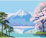 ZXlDXF Adults Children Beginners use Paint by Numbers Kits to DIY Digital Oil Paintings Including Brushes and Paints 4050 inches Home Wall Decoration Crafts Fresh Mountain View