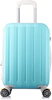 XIAO Suitcase for large capacity rotating wheel light hard shell suitcase, black, size (35 * 23 * 50) cm Happy day (Color : Light blue, Size : 16 * 10 * 24 inch)