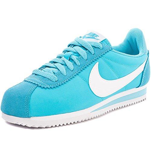Nike Donna Wmns Classic Cortez Nylon Scarpe Sportive Blu Size: 38 1/2