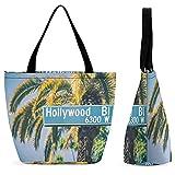 Hollywood - Bolsa de compras para bolsos y bolsos de mujer para mujer, bolso de moda hecho con asa en la parte superior
