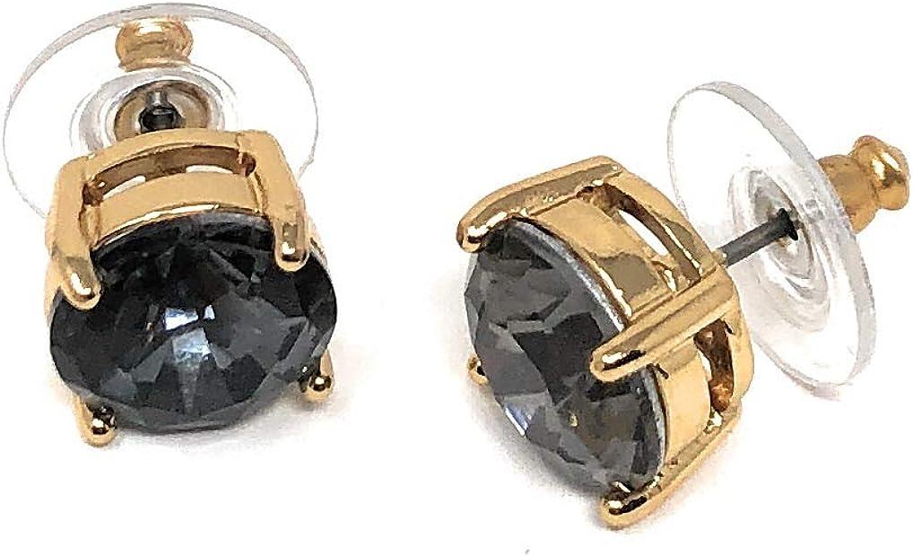 Kate Spade New York Sparkling Black Diamond Color Stud Earrings