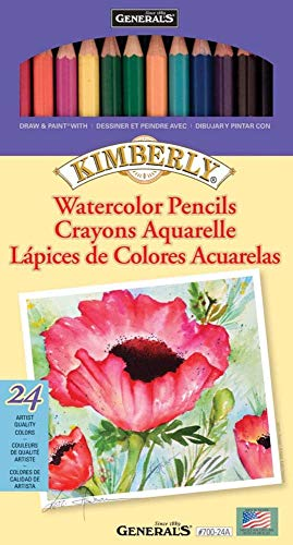 General Pencil 700-24A Kimberly 24Pc.Watcol Pencil Set700 24A, 24 Count (Pack of 1), Multicolor