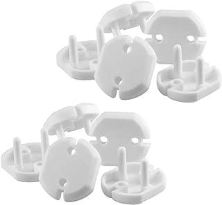 est/ándar de la UE 10pcs transparente para ni/ños peque/ños y beb/és Newin Star Tapas de enchufes Babyproofing Seguro enchufe el/éctrico Protectores robusta a prueba de ni/ños para enchufes