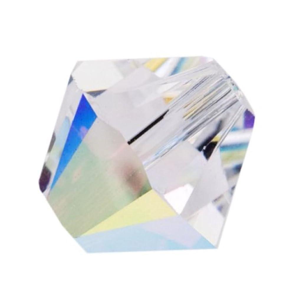 100pcs Authentic 4mm Small Swarovski Crystals 5328 Xillion Bicone Crystal Beads for Jewelry Craft Making (Crystal AB) SWA-b402 edqfdhdrhb