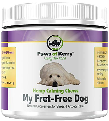 Calming Treats for Dogs with Hemp - Natural Dog Anxiety Relief from...