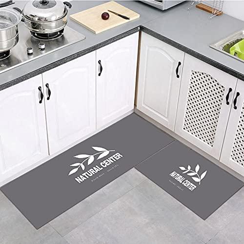 OPLJ Alfombra de Cocina Lavable Moderna y Simple, Alfombra Antideslizante de baño, Alfombra de Puerta de Entrada de Dormitorio de Sala de Estar en casa A5 50x160cm