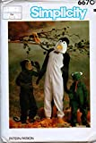 Simplicity 6670 Vintage Sewing Pattern for Monkey, Penguin, and Frog Child's...