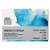 Winsor & Newton papel de acuarela, Mezcla de 25% algodón y Fibras de celulosa, Blanco Claro Natural, 10,2 x 15,2cm