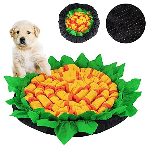 FPVERA Dog Snuffle Feeding Mat 50X 50 cm Pet Training Sniffing Mat Slow Eating Anti-Choking Dog Bowl for Boredom, Encourages Natural Foraging Skills, Training, Travel