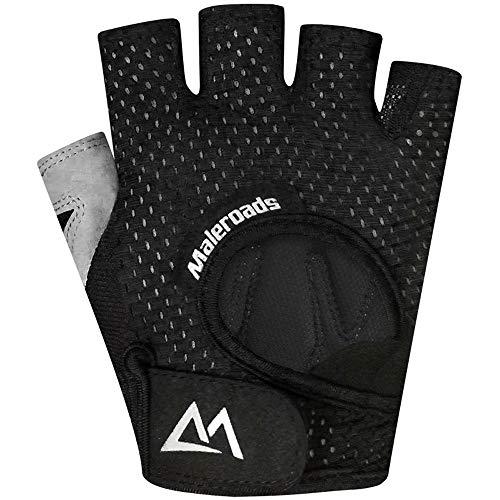 persönlichkeit Fitness Half Finger Handschuhe männer und Frauen Training Gym hantel Yoga Slip Outdoor Sports reiten Butterfly mesh atmungsaktive dünnschliff (Color : Black)