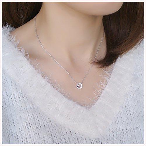 『[VAヴァンドーム青山] VA VENDOME AOYAMA スパークルナイト 月 星 ダイヤモンド ネックレス GS6N019340DI』のトップ画像