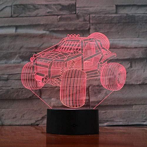 3D Illusions Luz Nocturna Led Lámpara De Mesa De Cabecera Bicicleta De Montaña 7 Colores Cambio De Botón Táctil Y Ciclismo Regalo De Cumpleaños Para Decoración De Dormitorio