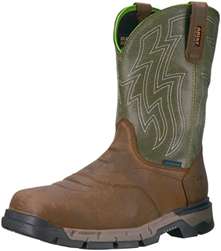Ariat Work Men's REBAR Flex Western H2O Work Boot, Rye Brown, 10.5 D US