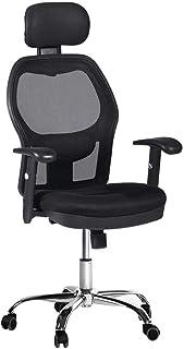 CCTRO 高靠背网眼符合人体工程学办公椅,带头枕和扶手,360 度旋转办公桌任务椅