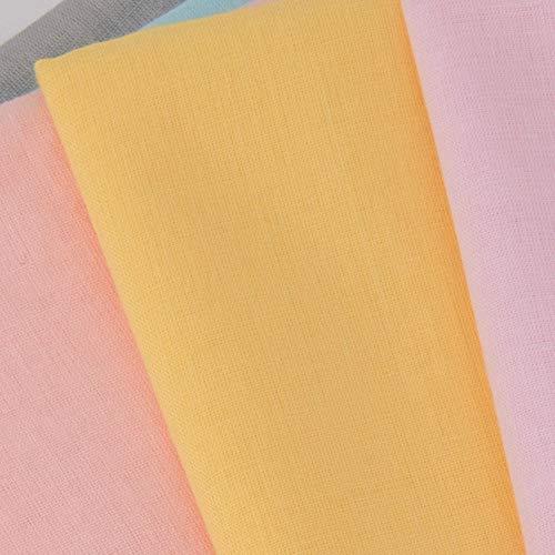 MoonyLI Tissus pour vêtements Tissus décoratifs Tissus pour Rideaux Tissus pour Rideaux Tissus en Coton Couleur Unie Tissu de Doublure en Coton Tissu de Mode Universel Tissu pour la 90 * 88 cm