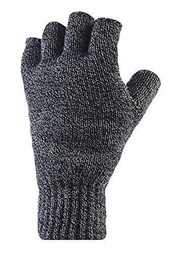 Heat holders fingerlos thermal gants pour homme maille 2.3 tog gris taille unique