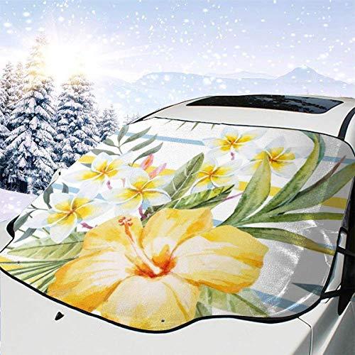 AEMAPE Patrón de Acuarela Tropical 0 Parabrisas de Coche Cubierta de Nieve Cubierta de Hielo Parabrisas Parasol Protector de Parabrisas Impermeable para Camiones Suvs