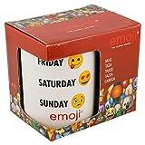 Tazza Emoji Weekday in confezione regalo, in ceramica, bianco, 10 x 11 x 8 cm
