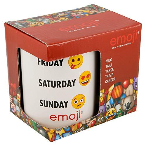 Emoji Weekday Tasse in Geschenkbox, Keramik, weiß, 10 x 11 x 8 cm