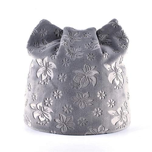 Damen Mütze Strickmützen für Damen Herbst warme Wintermütze für Frauen Katze...