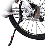 """Bike Kickstand, Extended Adjustable Bicycle Kickstand, 2 Point Mounting, Aluminum Alloy Body, Non-slip Rear Kickstand for 24""""-29"""" Bike Mountain Road Cycling (Extended Size)"""