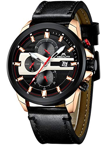 Herenhorloges mannen militair digitaal horloge sport chronograaf LED waterdicht groot bruin leer polshorloges mannelijk multifunctioneel digitaal analoog wekker datum modieus horloge