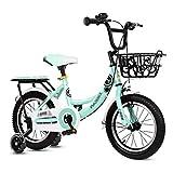 ZMDZA Bicicletas for niños, Bicicletas con Ruedas de Entrenamiento por 12 14 16 Pulgadas de Bicicletas, Bicicletas de Choque Pedal Kinder Cochecito Antideslizante Bicicletas Chico de Ciudad Buggy