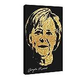 Angela Merkel Goldenes Celebrity Signatur-Poster 14