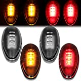 4Pcs Dually Bed Fender LED Side Marker Light Lamp Replacement for Chevy Silverado GMC Sierra 2500HD 3500HD 01-14