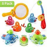 BBLIKE Badespielzeug für Babys, Angel-Badewannenspielzeug Set mit Angelrute und Fischernetz, Schwimmen Badewanne Pool Spielzeug Uhrwerk Schwimmbad Spielzeug Für Baby und Kleinkinder ab 18 Monaten