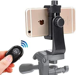 スマホホルダー三脚用 +リモコン付き iPhone X 8 7 Plus Samsung Nexus スマートフォン用 三脚マウント用
