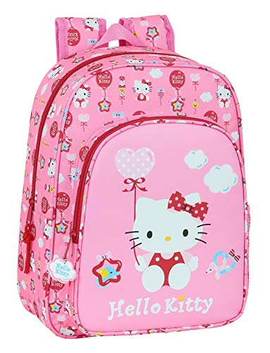safta Mochila Escolar Infantil Hello Kitty Balloon, 260x110x340mm