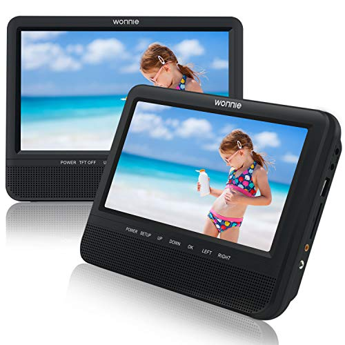 "WONNIE 7.5"" Inch Dual Portable DVD Player for Car, Two..."