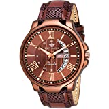 Dial Material: Stainless Steel Dial Shape: Round Strap Color: Brown; Strap Material: Synthetic Watch Movement Type: Quartz Model number: EH-153-BR