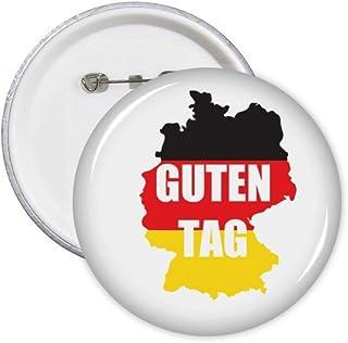Lot de 5 badges de salutation allemande Hello Map Outline Badge Emblème Accessoire Décoration