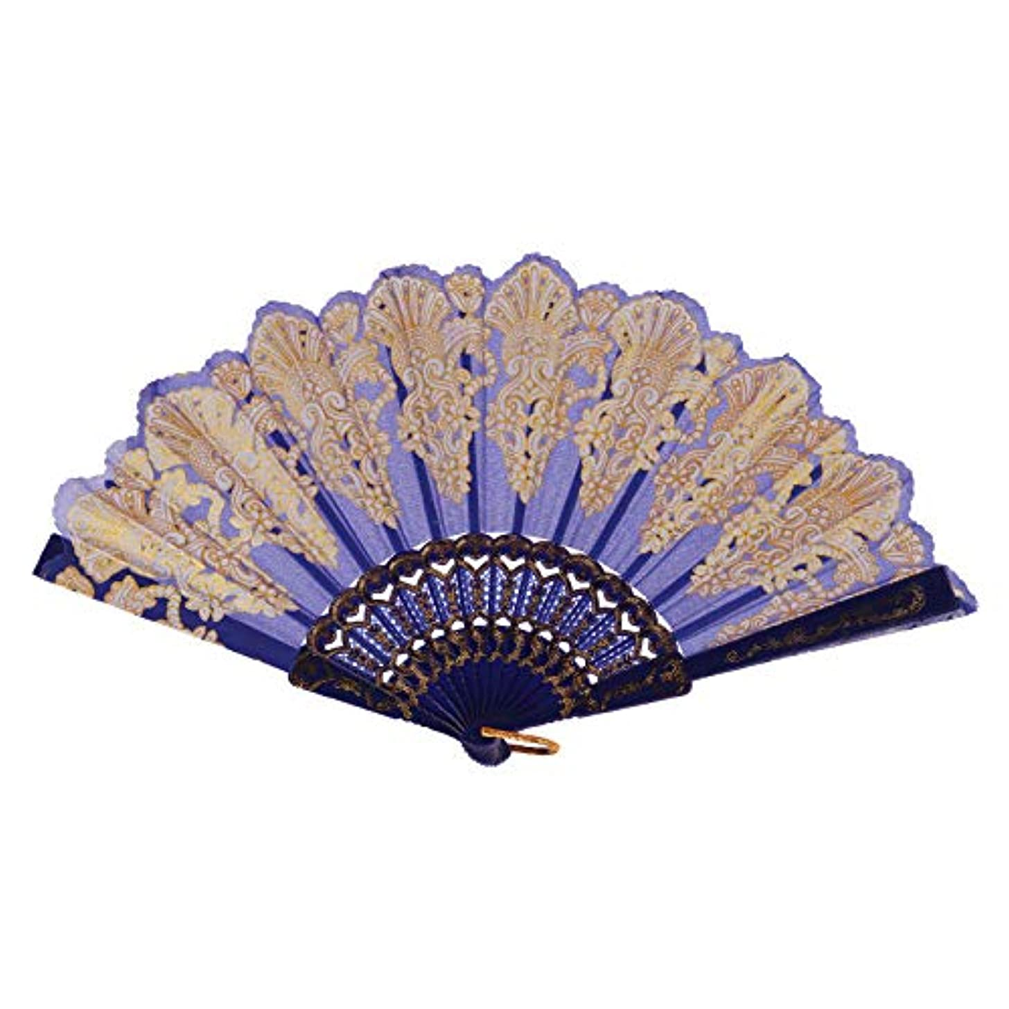 Folding Hand Held Fan Chinese Traditional Hollow Fan Wooden Hand Made Exquisite Folding Wedding Gift