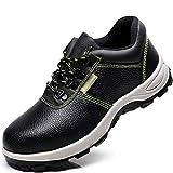 Djpcvb Zapatos de Seguridad Calzado de construcción Industrial Calzado de Seguridad Transpirable para Hombres, Transpirable, a Prueba de roturas, Aislado, de Acero Baotou, Zapatos de Seguridad