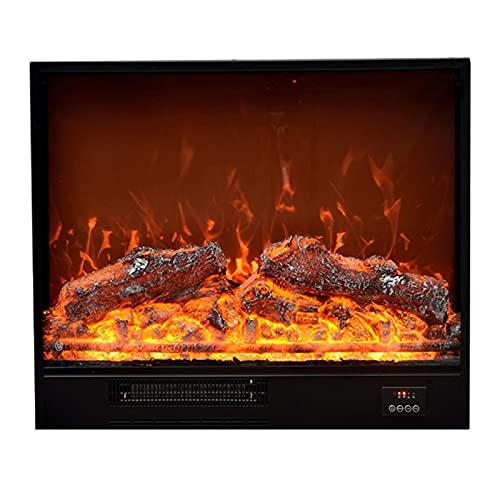 Chimenea eléctrica 25.9'× 7.1' × 22.0'calentador de chimenea eléctrica efecto de llama dinámica empotrada con chimenea eléctrica 1500w Calentador de marco de metal negro con control remoto Chimenea