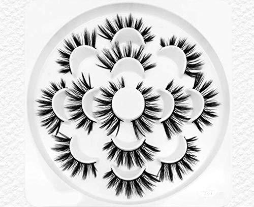Seven Pairs Of Slender And Thick False Eyelashes Silk Eyelashes Lotus Plate And Tweezers