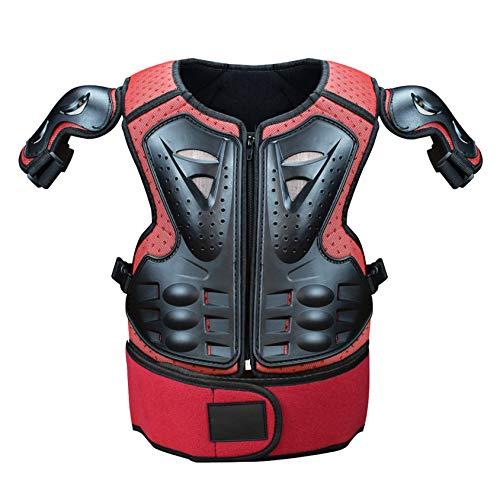 Massage-AED Armadura Moto Hombre,Motocicleta Body Armor Motorcross Chaleco Protector de Pecho Protector de Pecho con Protector de Espalda Anti-caída Accesorios de Equipo para Todoterreno