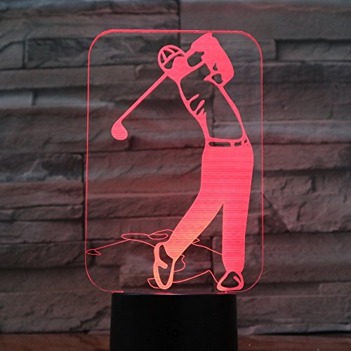 Golfspieler beleuchtet Bunte Acryllichter als das Beste Budgetgeschenk für Familiendekorationen beleuchtet Ehemannmannfreunde Weg vom Boot