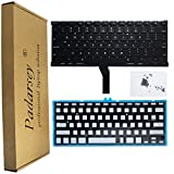 Padarsey Backlight Backlit Keyboard Replacement with 80 PCE Screws for MacBook Air 13' A1369 (2011) A1466 (2012-2015) MJVE2LL/A MD760LL/A MC965LL/A MD231LL/A MJVG2LL/A Series (6 Months Warranty)