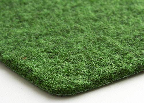 Steffensmeier Kunstrasen Teppich Wembley | für Balkon und Terrasse | grüner Nadelfilz, Größe: 133x200 cm
