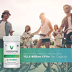 Visbiome® High Potency Probiotic 60 Capsules 112.5 Billion CFU - Shipped Cold in Recyclable Cooler with Temperature Monitor (2-Pack)