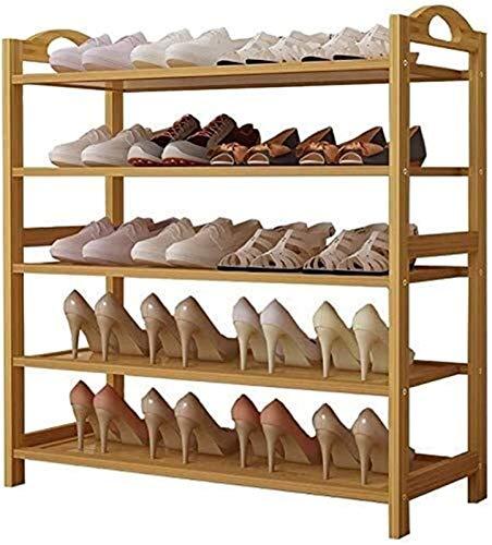 Estante de zapatos Zapatero Simple Family Zapatos prácticos Estante zapatero Estantes vertical plataforma de almacenamiento de familia sencilla Zapatos prácticos Estantes Estantes de bambú estantes de