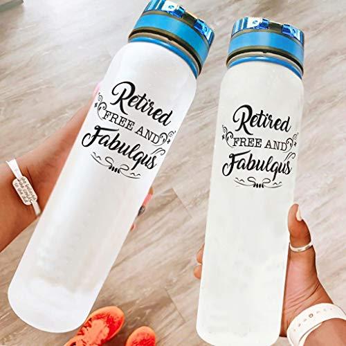 BBOOUAG Biberón de agua deportiva de 32 onzas para lavavajillas, seguro para acampar, botella deportiva, botella de senderismo, mejor regalo para amado blanco, 1000 ml