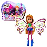 Winx Club Flora | Sirenix Mini Magic Muñeca Hada con Transformación | 12 cm