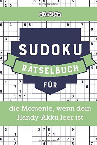 Sudoku Rätselbuch für die Momente, wenn dein Handy-Akku leer ist