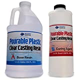 Pourable Plastic Deep Pour Up To 2' Thick Clear Casting Resin 3 Quart Kit...