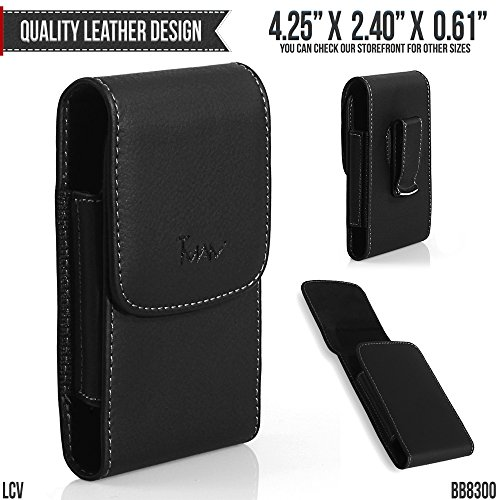 Alcatel THE BIG EASY Flip Belt Pouch, TMAN [Leather Vertical] Metal Clip Holster/Magnetic Closure Case, Cover with Belt Loop Carrying Protective - Fits Cellphone without any Case